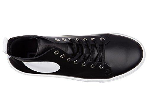 Mcq Alexander Mcqueen Chaussures Pour Hommes Haut Top Sneakers En Cuir Chris Mi B
