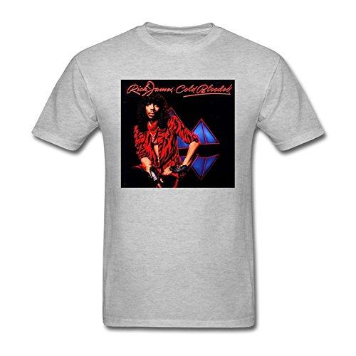 Tommery Men's Rick James Short Cotton T Shirt