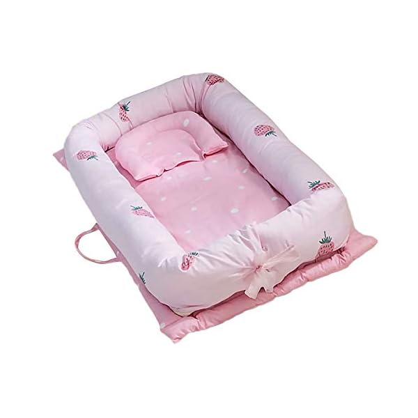 Lit bébé,Berceau Amovible Goseaer Lit Bebe Voyage Portable pliable lavable respirant coton bébé chaise longue nid pour 0-24 Style B 1