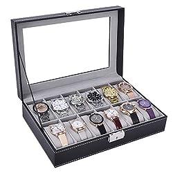 Autoark Leather Eyeglasses Sunglass Jewelry Watch Display Drawer Lockable Case Organizer