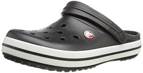 (Crocs Unisex Crocband Clog, Black, 9 US Men / 11 US)