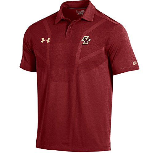 Under Armour NCAA Boston College Eagles Men's Sideline Tour Coaches Polo, Medium, Cardinal (Armour Under Ncaa)