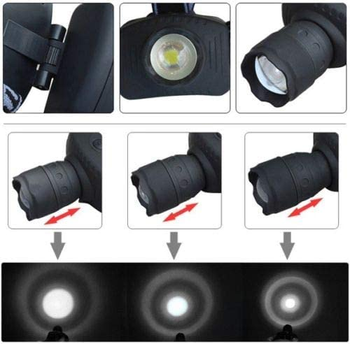 SIMPLISIM LAMPE FRONTALE 3 ZOOM CREE LED PHARE PUISSANTE Q5 5W LUMIERE CAMPING 500 LUMENS