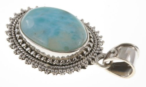 1.63 925 Sterling Silver LARIMAR Pendant