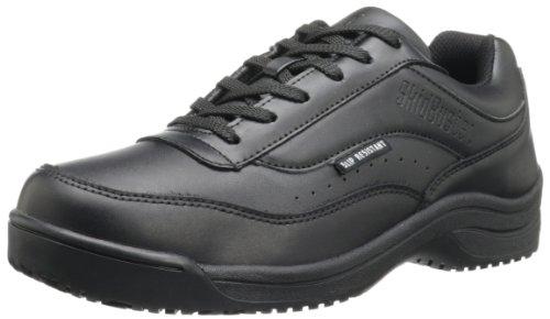 (Skidbuster 5070 Men's Leather Slip Resistant Athletic Shoe,Black,10 M US)