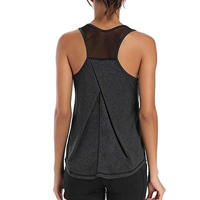 Aeuui Workout Tops for Women Mesh Racerback Tank Yoga Shirts Gym Clothes: Clothing
