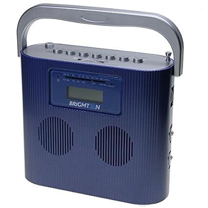 Brigmton W-407 - Radio CD / USB Compacto - Red y Pilas - Azul