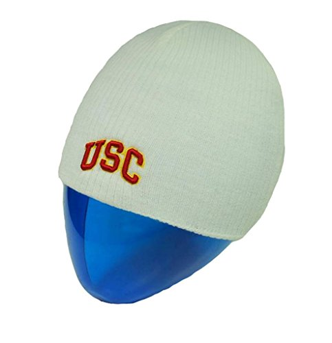 [Trojans USC Fowler Beanie white Men's Hat One size fits most] (Mens Trojan Costume)