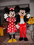 Couple Mickey & Minnie Mouse Mascot Cartoon Character Adult Sz