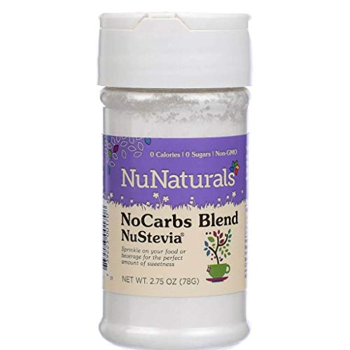 NuNaturals NoCarb Blend Powder All Purpose Natural Sweetener, Sugar-Free, Zero Calorie (2.75 oz) by NuNaturals (Image #1)