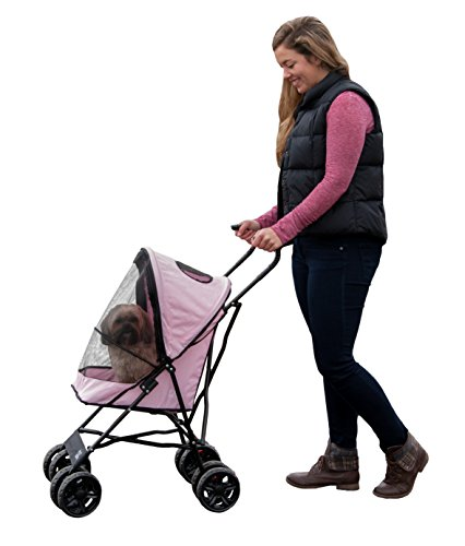 Pet Stroller for Cats and Dogs up to 15-pounds, Pink ()