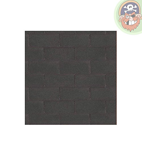 Bitumen Dachschindeln Farbe schwarz 3 m² von Gartenpirat®