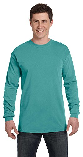 Comfort Colors Ringspun Garment-Dyed Long-Sleeve T-Shirt, 3XL, SEAFOAM