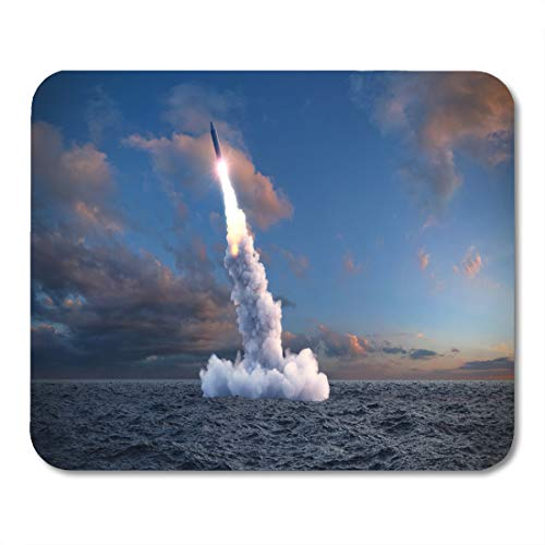 Semtomn Mouse Pad Nuclear The Launch of Ballistic Missile from Under Water Mousepad 9.8