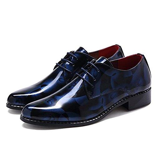 los talón tamaño 41 de Shufang del Zapatos del shoes Ocasionales Azul 2018 Plano Loafer Color Hombres del Negocio Patrón Gris Camuflaje Hombre para de Zapatos EU Mocasines qgOCxqvAw