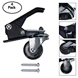 Yaegoo Work Bench Caster Kit,Pack of 4