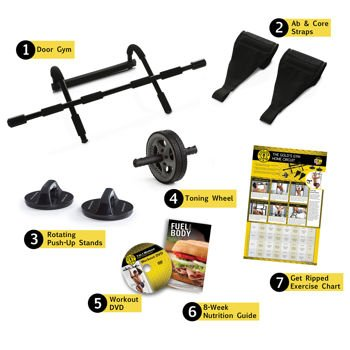 Golds Gym® 7-in-1 Body Building System It's Everything You Need to Build a Powerful Chest, Chiseled Triceps and 6-pack Abs
