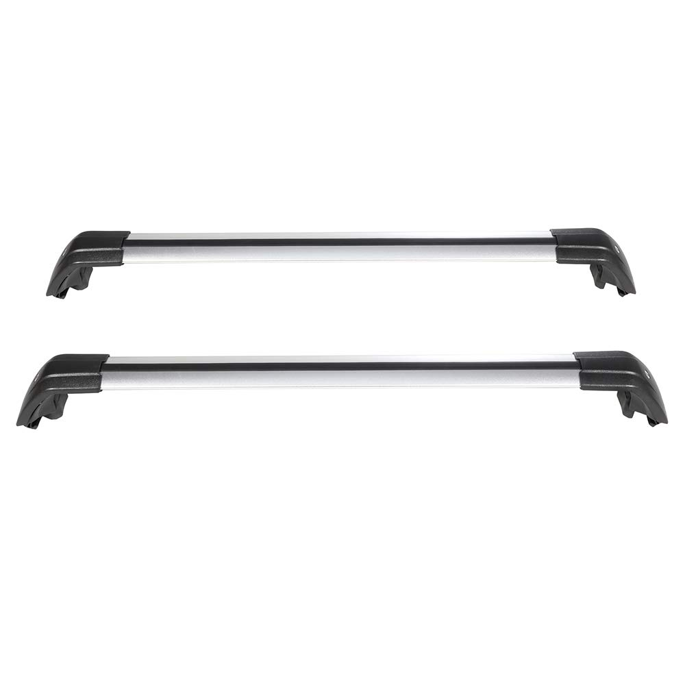SCITOO fit for 2013 2014 2015 2016 2017 2018 2019 Mitsubishi Outlander Aluminum Alloy Roof Top Cross Bar Set Rock Rack Rail