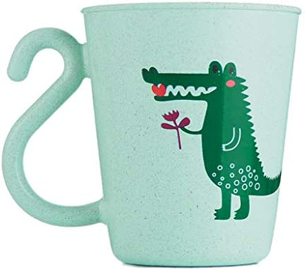 MB-LANHUA Schöne Plastik Baby Tasse Cartoon Milch Kaffeetasse Kinder Cartoon Waschbecher Zahnbürstenhalter Tasse PP Badezimmer Spülbecher Grün