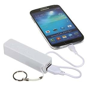 Power Bank 2600mAh USB cargador (Blanco 2600mAh USB Power Bank)