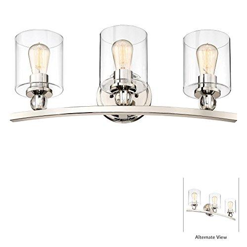 Minka Lavery Wall Light Fixtures 3073-613 Studio 5 Bath Vanity Lighting, 3-Light 180 Watts, Polished ()