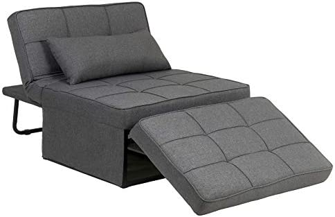 Ayaya Folding Ottoman Sofa Bed Sleeper Chair Lounger Ottoman Convertible Chair 4