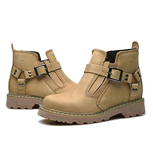 Bajo Combat Tactical El Alto De Light Trabajo Los Durables Al Talón Elásticos Walking Del Hombres Hiking Boot Libre Hebilla Para Calzado Tobillo Camping Zapatos Martin Aire Brown 1nz07