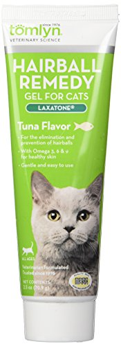 Tomlyn Laxatone Tuna-Flavored Hairball Remedy Gel for Cats, 2.5oz
