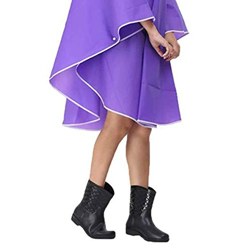 Rain Parka Femmes Raincoat Pour Moto Casual Transparent Pluie Imperméable Lilas De Veste Hooded Dame Poncho 7IYxtAw