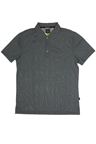 Greg Norman 5 Iron Performance Polo Slim Fit Grey Medium