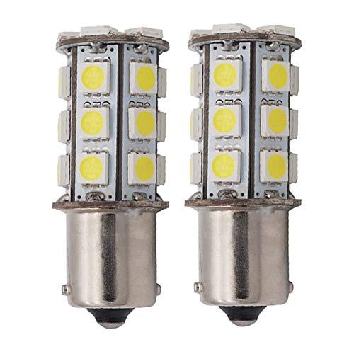 High Bright RV Car LED Bulb 24-5050SMD DC 12V Cool White Pack of 2 ()