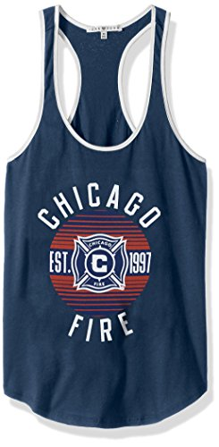 MLS Chicago Fire Women's Women's Ringer Tank Top, X-Large, Non/Sun