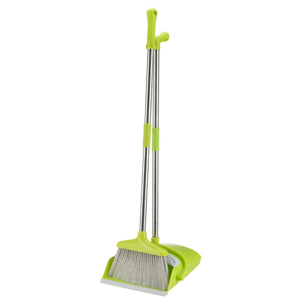 Household Floor Cleaner Broom and Dustpan Plastic Soft Broom Storage Broom Creative Foldable Storage Soft Easy Clean Dust, Fruit Green by Gafuler