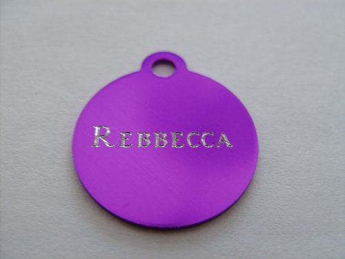 Pet ID Tag/Deluxe – Small Purple Circle, My Pet Supplies