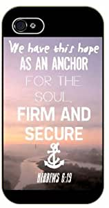 We have this hope as an anchor for the soul, firm and secure - Hebrews 6:19 - Bible verse iPhone 5 / 5s black plastic case / Christian Verses