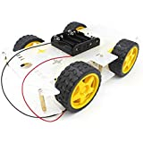 YIKESHU 4WD Smart Robot Car Chassis Kit Speed Encoder Battery Box Arduino DIY