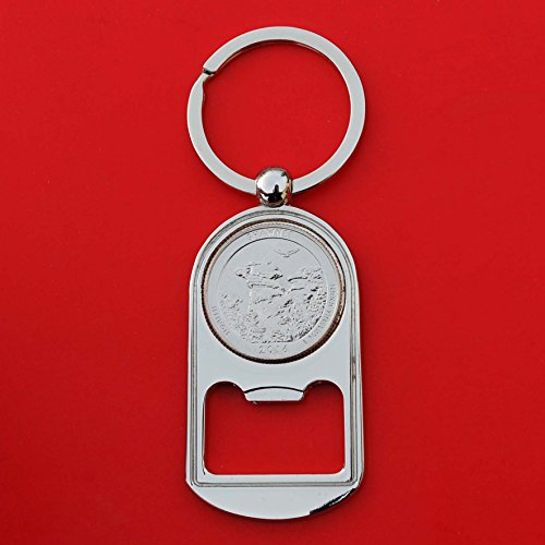 US 2016 Illinois Shawnee National Forest Quarter BU Uncirculated Coin Silver Tone Key Chain Ring Bottle Opener NEW - America the Beautiful