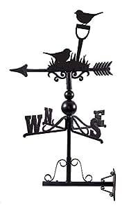 Hecho a mano de hierro fundido y acero Robin Diseño Weathervane–incluye soporte de montaje en pared