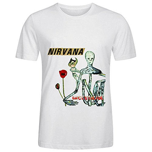 Nirvana Incesticide Tour Roll Mens O Neck Short Sleeve Shirts White