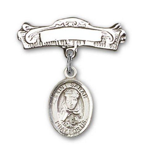 Icecarats Créatrice De Bijoux En Argent Sterling St. Sarah Charme Broches Badge Arc 7/8 X 7/8