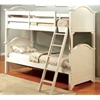 HOMES: Inside + Out ioHOMES Jerranda Transitional Bunk Bed, Twin, White