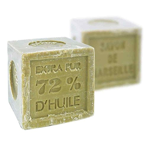 Marseille Olive Oil Soap - Foufour Natural Vegetable Marseille Verte Olive Oil Soap Cube 300G, French Traditional Receipt