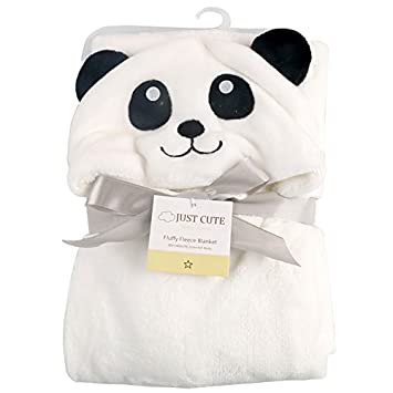 Tongchou Baby Infant Newborn Bathrobe Hooded Flannel Fleece Bathing Wrap Blanket Panda