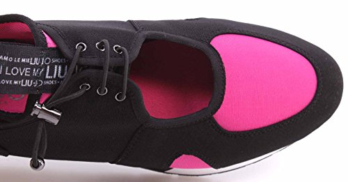 Sneaker Tessuto Può Donna Liu Fucsia Jo Tecno Nero Nero f4vx415nw