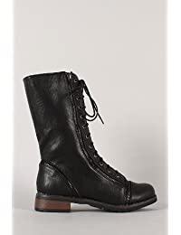 Bamboo Womens Battle-14 Fashion Boots