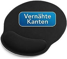 Sidorenko Mauspad mit Gelkissen - 26x23cm - Ergonomisches Mauspad mit Vernähte Kanten - Mousepad mit Handauflage für...