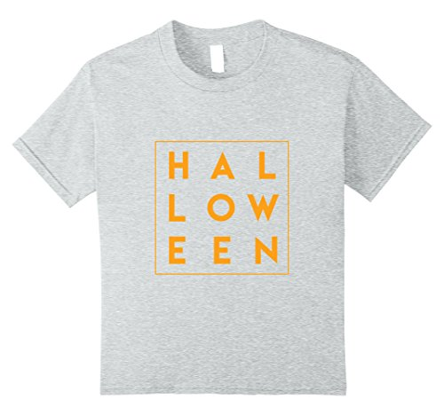 Kids Cool and Trendy Letter Word Style Halloween Tshirt 10 Heather Grey (10 Letter Halloween Words)