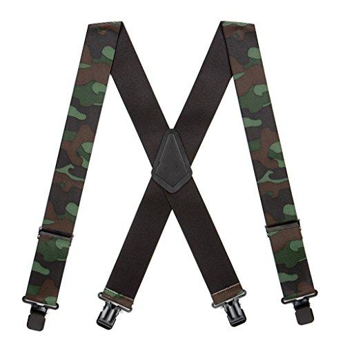 (SuspenderStore Men's Woodland Camo Suspenders - 2 Inch Wide)