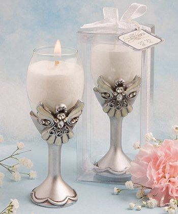 Angel Design Champagne Flute Candle Holders - 30 count