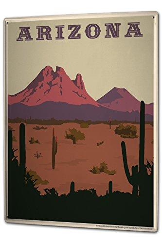 Tin Sign XXL Travel Kitchen Arizona by LEOTIE